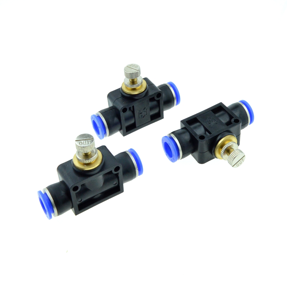 3 Pcs Inline Airflow Control 12mm x 12mm Push In Quick Connecter 2-Way Flow Limiting Pneumatic Valve Speed Controller inline duo 7квт киев