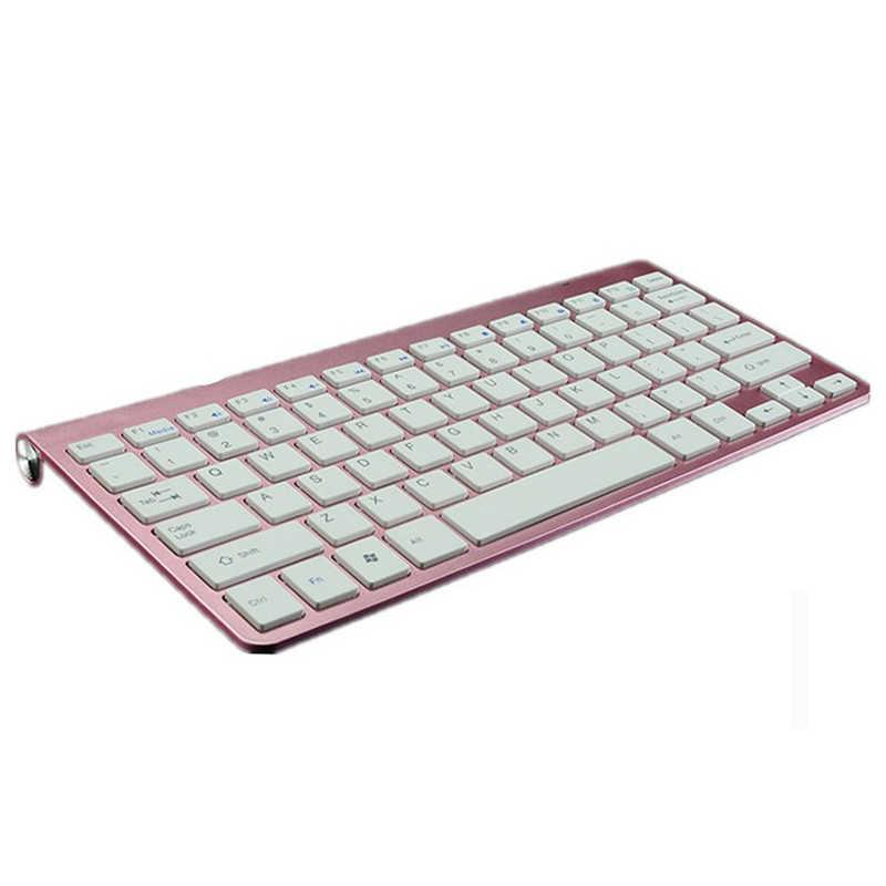 Baru Mini Portable Mouse Keyboard Set Combo 2.4G Slim Multimedia Komputer Nirkabel Keyboard untuk Mac Desktop PC Laptop TV