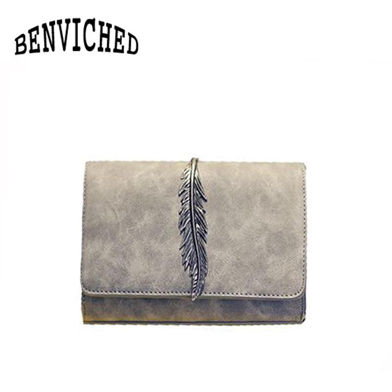 BENVICHED 2018 summer new feather bag pu simple fashion chain shoulder Messenger bag mini bag R24 цена