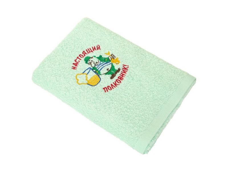 Hand towel and face WELLNESS, Holiday, 40*70 cm, embroidery, mint hand towel and face bayramaly 50 90 cm lilac