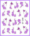 1X etiqueta engomada del clavo Purple Flower & Butterfly Water transfer pegatinas Nail Stickers Decals agua Decal Opp manga embalaje SY249