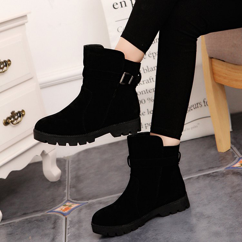 E TOY WORD 2019 Women Boots Winter Shoes large size 40 43 platforms Female Warm Botas Mujer round Toe Ankle Womens Snow Boots in Ankle Boots from Shoes