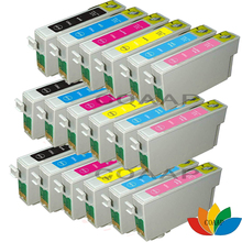цена на 18 X Compatible ink cartridge for Epson R270/R290/R295/R390/RX590/RX610/RX615/T50/T59/TX650/TX700/TX800/TX710W/ T0821 82N