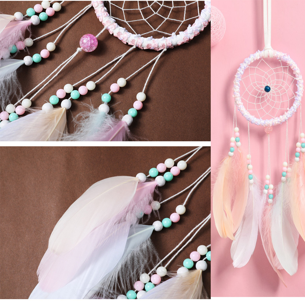 PURPLE  DREAM CATCHER 58CM DROP WITH LOTS OF FEATHERS SHELLS AND BEADS