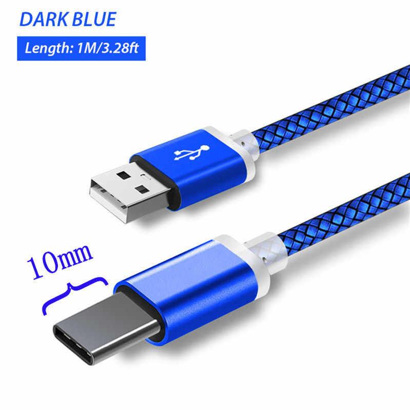 Rodzaj usb C kabel do ładowarki dla Blackview Bv 9700 9600 6800 9500 Oukitel U25 23/18 Wp2 P10000 pro K10 K9 Ulefone DOOGEE USB-C przewód
