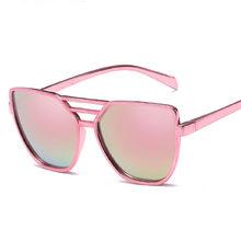 406e2c0aea Nuevo gato ojo gafas de sol mujer marca tonos gafas de sol de moda para  Damas Rosa espejo gafas de mujer Retro Eyewears UV400