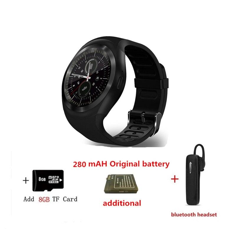 fashion Smart Watch Y1 2G SIM/TF Card Bluetooth Smartwatch mp3 player For Relogio watch  apple watch 3 Samsung gear S3 VS DZ09 smart watch water resistant