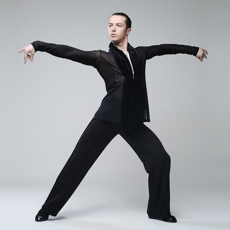 Одежда для латинских танцев плотный сексуальный купальник мужское трико - 3
