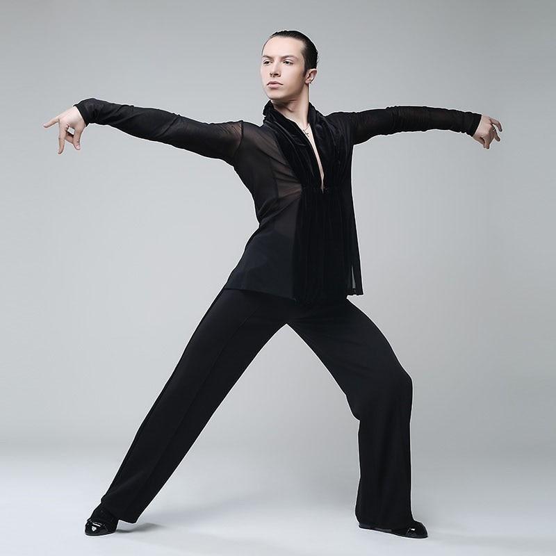 Danse latine vêtements serrés justaucorps sexy hommes collants - 3