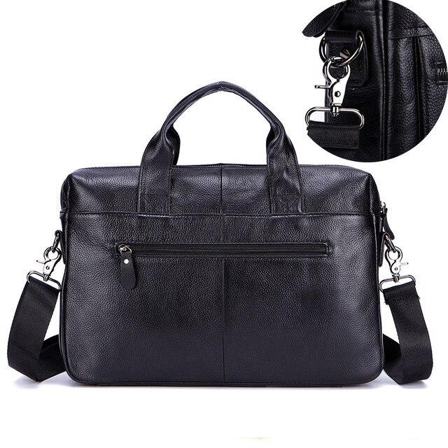 Lachiour Black Pu Leather Laptop Bag For 14 Inch Laptop 3