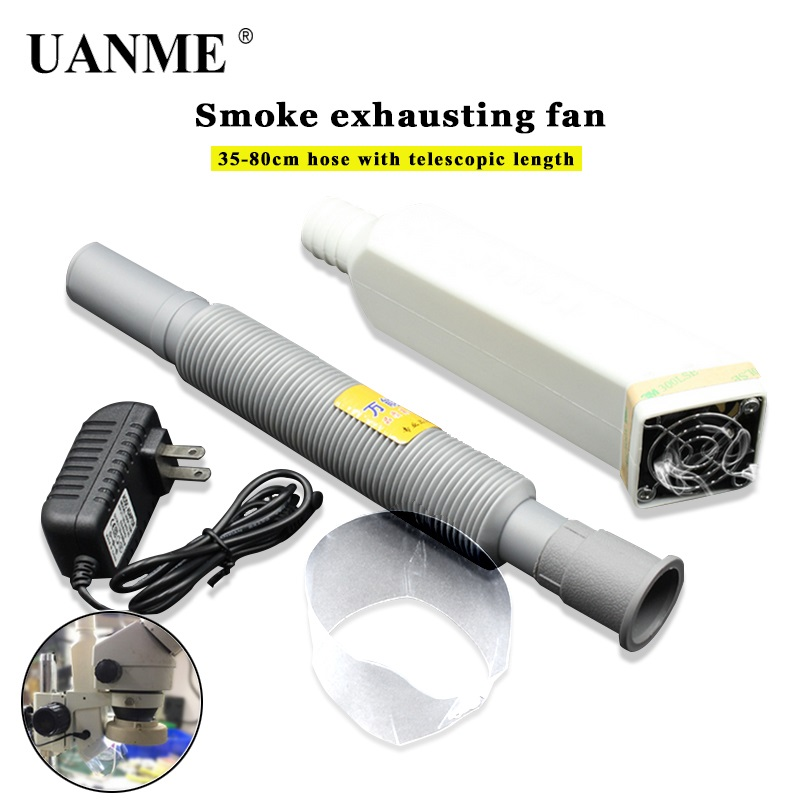 UANME Microscope Exhaust Fan Effective Extraction Of Rosin Welding Oil Gas Oil Fume Fume Extractor