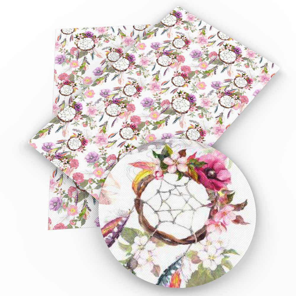 David acessórios 20*34 cm sonho flor Do Falso Couro Sintético Artificial Folha de Sacos de Vestuário Hairbow DIY Costura Artesanato, 1Yc3848