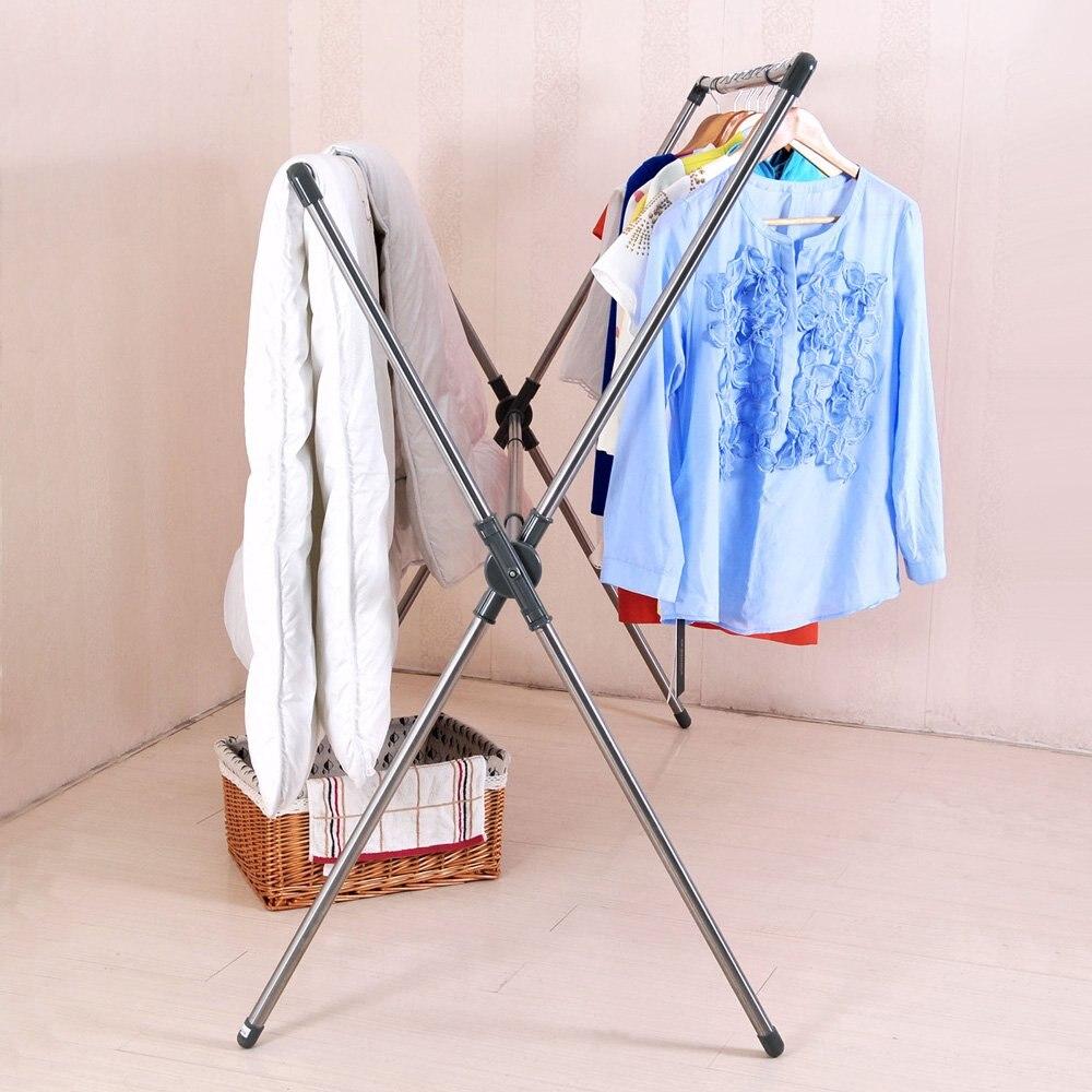 Wasserij X Vorm Vouw Kleding Quilt Opknoping Droogrek Draagbare Passen Droger Hanger Airer Stand Rack voor Indoor Outdoor DQJ007 - 6
