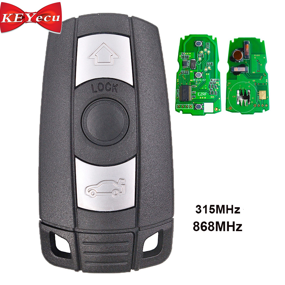KEYECU Remote Key 315MHz / 868MHz PCF7952 Chip 3 Button for BMW CAS3 3/5 Series X5 (China)