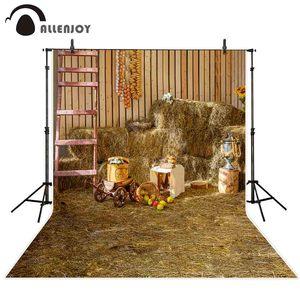 Image 2 - Allenjoy autunno fotografia sfondo Pagliaio fieno farm barn Raccolto Grazie Dando background photo studio photocall photophone