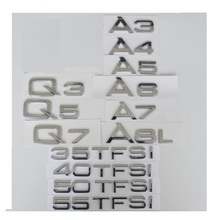 Chrome Rear Trunk Letters Badge Emblem Emblems Badges for Audi A3 A4 A5 A6 A7 A8 A4L A6L A8L Q3 Q5 Q7 35 40 45 50 55 TFSI xyivyg car foot rest fuel brake mt pedals for audi a 1 a3 a4 a4l a4 quattro a5 s4 s6 a7 a8l q5 for manual transmission models