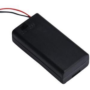 Image 1 - חדש 2018 2 x AA 3V סוללה מחזיק מחבר אחסון מקרה תיבת על/כיבוי עם חוט מוליך אבר Dropshipping אפריל 6