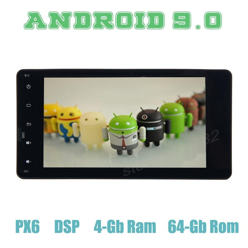 Lecteur Radio GPS de voiture PX6 Android 9.0 pour mitsubishi ASX lancer-x outlander pajero avec multimédia stéréo automatique DSP 4 + 64 GB