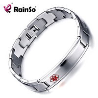 Men S Medical Alert ID Bracelets High Quality Stainless Steel Bangles Bracelets Jewelry