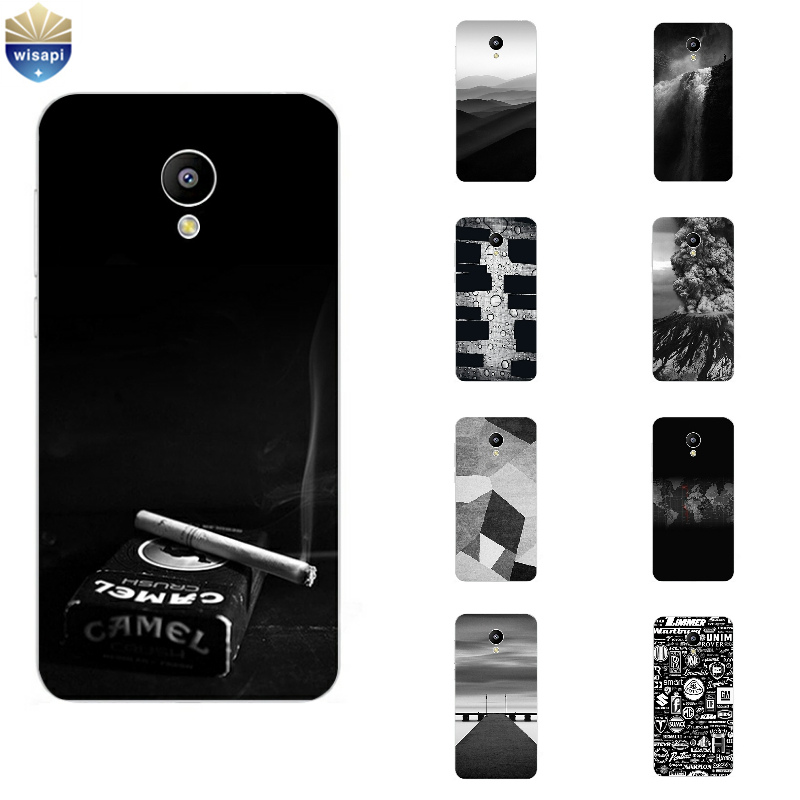 Phone Case For MEILAN E M2 M3 Mini Shell Meizu M1 M2 M3 Note Back Cover MX4 Pro 5 6 MX5 MX6 Metal Soft TPU Gray Background