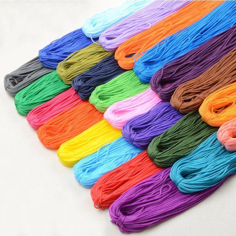 45M / stk 2mm Mulit- Colours DIY Håndlaget Rope / Wire / Cord / String / Tråd for Bag Armbånd Smykker Gjør Tilbehør