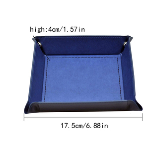 Image 5 - Foldable Storage Box PU Leather Square Tray for Dice Table Games Key Wallet Coin Box Tray Desktop Storage Box Trays Decor