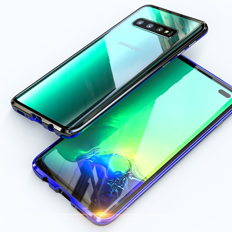 Image 2 - Conelz  Magnetic Adsorption Metal Case for Samsung S10 5G S9 S8 Plus S10e Note 9 8 Front Back Glass Full Body Protective Cover-in Fitted Cases from Cellphones & Telecommunications
