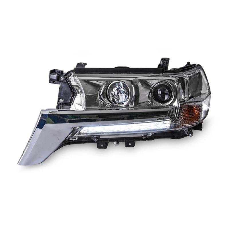 2шт Ownsun класса светодиодных ДХО-бар спрятанный би-ксенон проектор Лен Оригинальная замена фар для Тойота Ленд Крузер 2016