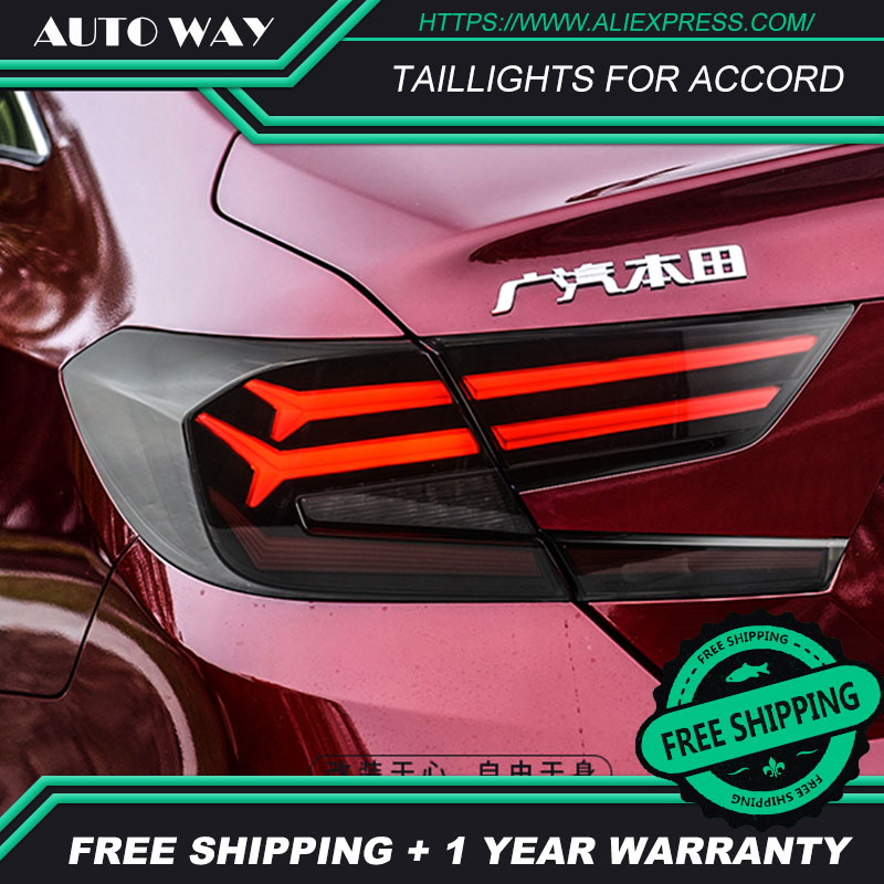 Car Styling Case for Honda Accord Taillights 2018 2019 for Accord LED taillight Tail Lamp Turn