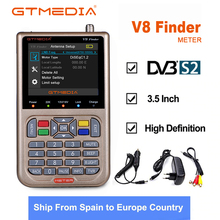 цена на Original Freesat V8 Finder meter HD 1080p DVB-S2 High Definition Satellite Finder MPEG-2 MPEG-4 satellite Finder V8 gtmedia