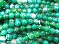5 sploty 4 6 8 10 12 14 16mm wysokiej jakości pęknięty Agaty gemstone kulę faceted zielony mieszane luźny koralik
