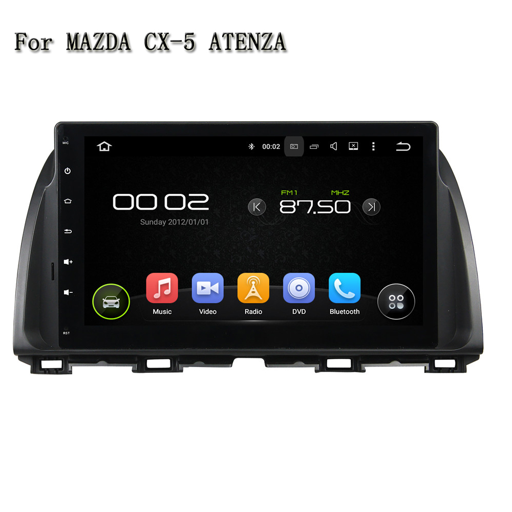 10.1 Inch Android 5.1.1 Quad Core Video Output Wifi Bluetooth Mirror Link Car Multinedia System GPS Navi For MAZDA CX-5 ATENZA