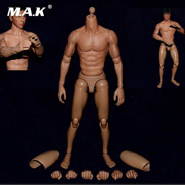 1/6 Scale Male Body Figure Asian Bodies Narrow Shoulder Figures for Head Sculpt Without Neck