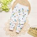 Otoño Invierno de Los Niños Ropa de Bebé Niños Babijuguete Niños Niñas Bebé 0-1Y Mantener Caliente de Cintura Alta Pantalones Largos