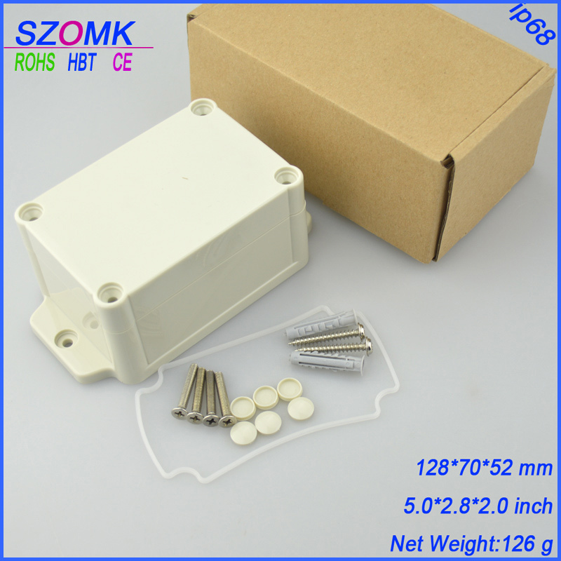 10 pieces a lot  enclosure case electronics IP 68 shell plastic electronics for PCB  128*70*52MM 5*2.8*2 inch lg 55uh620v