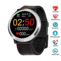 Smart Watch Bluetooth Smartwatch Heart Rate Tracker Blood Pressure Fitness Watch IP67 Waterproof Sport GPS Watch For Android IOS