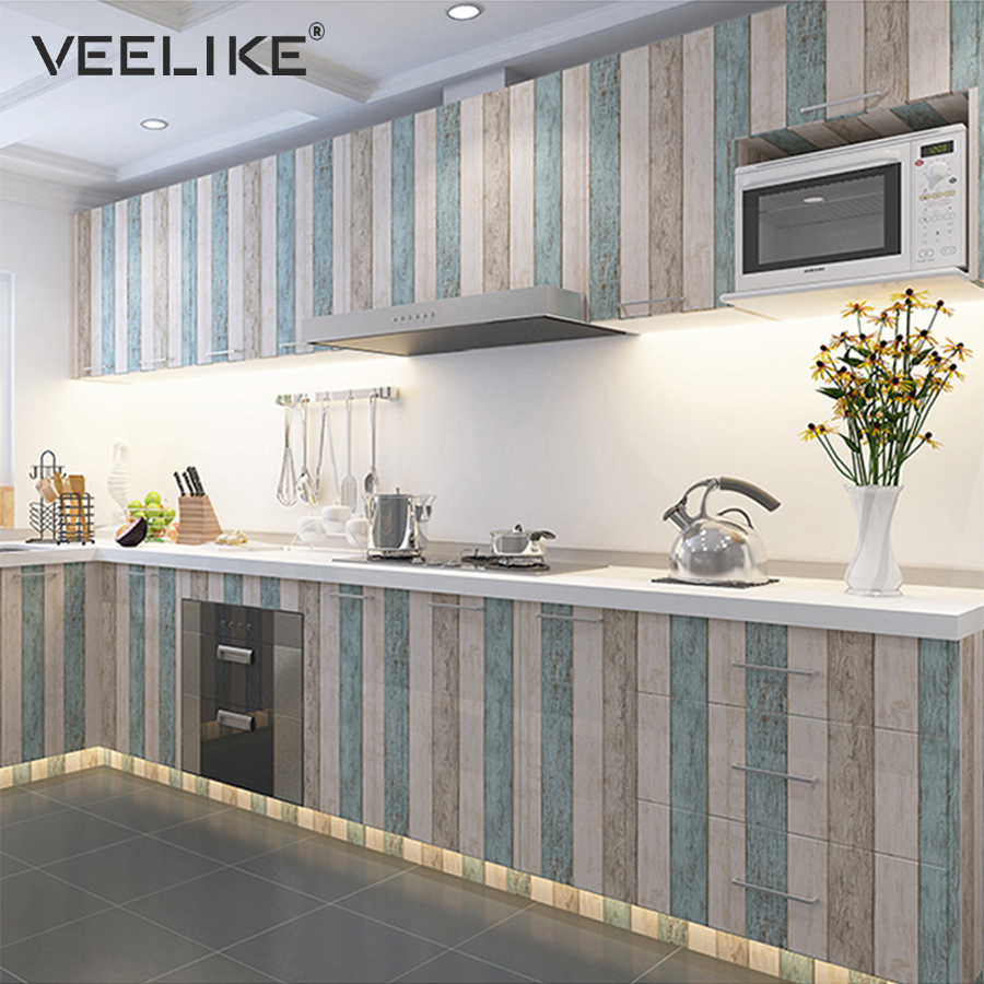 Kitchen Cabinet Door PVC Vinyl Contact Paper Furniture Sticker Bedroom Living Room Home Decor