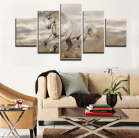 5pcs Animal Painting Horse Canvas Prints Picture Running Horse Oil Painting Wall Art Home Decor Custom