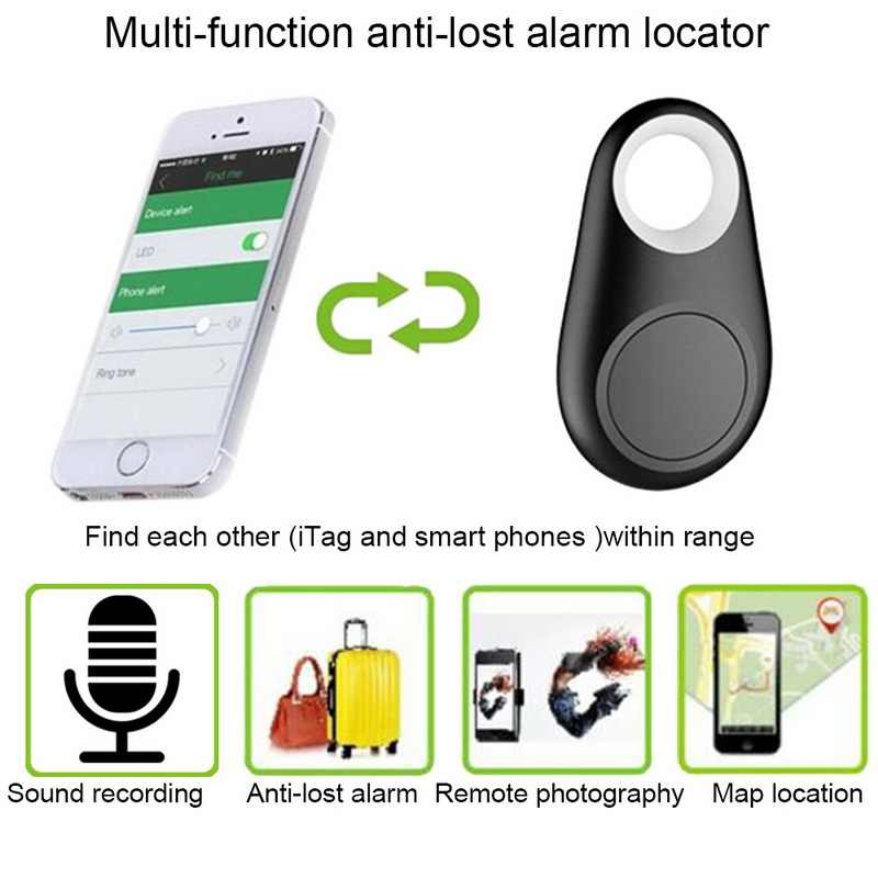 Gli animali domestici Intelligente Mini GPS Tracker Anti-Perso Bluetooth Impermeabile Per Cane di Animale Domestico Del Gatto Tasti Del Sacchetto Del Raccoglitore Bambini Tracker Finder attrezzature
