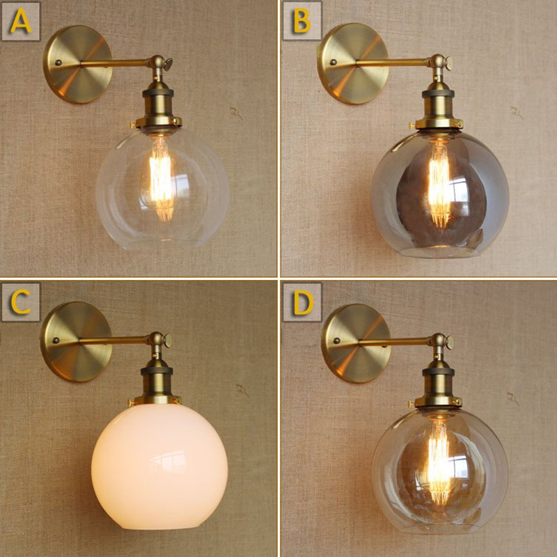 Nordic Creative Contracted Style Iron Vintage Restaurant Wall Lamp With Edison Bulb Bar Lamp Dining Room Lamp Free Shipping free shipping black 300mm long cage wall lamp edison vintage wall lamp fixture could choose with or without t300 bulb