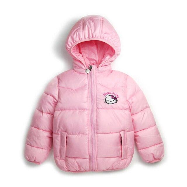 a3da5b891268 Retail 2 7Y New Children Winter Outerwear Clothing Girls Hello Kitty ...