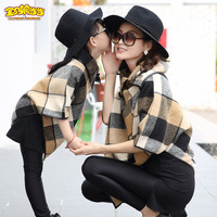 Family Matching Outfits Parent child Outfit New Spring autumn mother Shake tent coat Mom and daughter Grid clothes fashion style