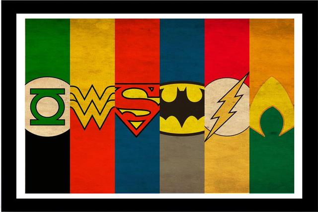 Custom Canvas Wall Decor Dc Comics Poster Justice League Stickers Flash Wonder Woman Decals Batman