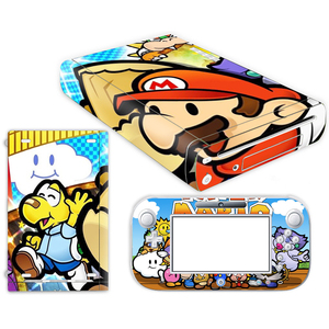 Image 5 - Super Mario Skin Sticker for Nintendo Wii U Console Cover with Remotes Controller Skins For Nintend wii u sticker
