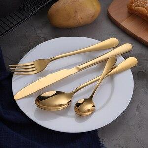 Image 2 - KuBac Hommiทองชุดบนโต๊ะอาหารสแตนเลสช้อนส้อมชุด30ชิ้นทองมีดมีดมีดทองวางสินค้า