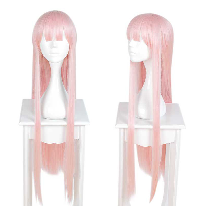 Free Hair Net And 100cm DARLING In The FRANXX 002 Wig ZERO TWO Cosplay Wig 02 Pink Long Straight Hair Costume