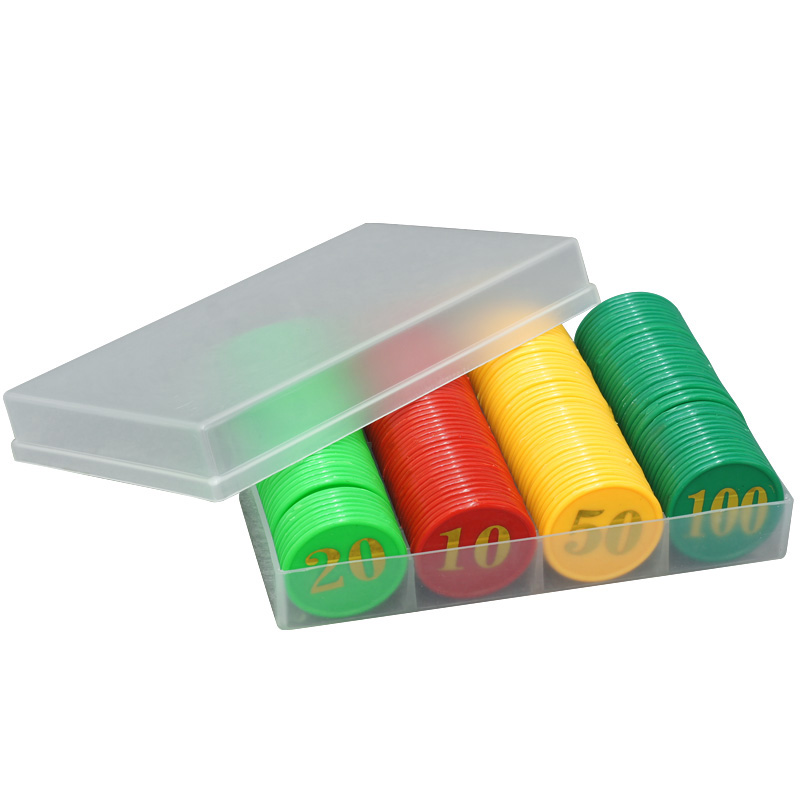160 PCS/SET,Good Quality ABS Plastic, Chips ,8 Kinds Value Education Poker Chips Send To Children As Gift with Box