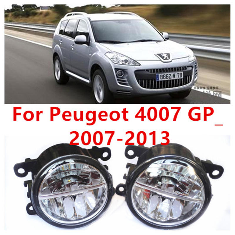 For Peugeot 4007 GP_  2007-2013 Fog Lamps LED Car Styling 10W Yellow White 2016 new lights for peugeot 4007 gp