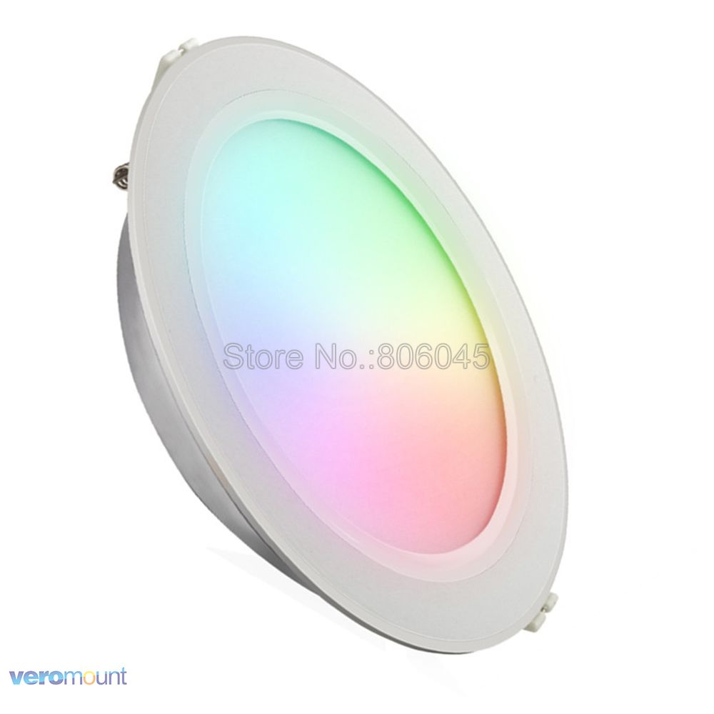 FUT068 AC85-265V Milight 2.4G 6W RGB+CCT WiFi Compatible Smart LED Downlight 2.4G Wireless 4-Zone Remote Android/iOs APP Control