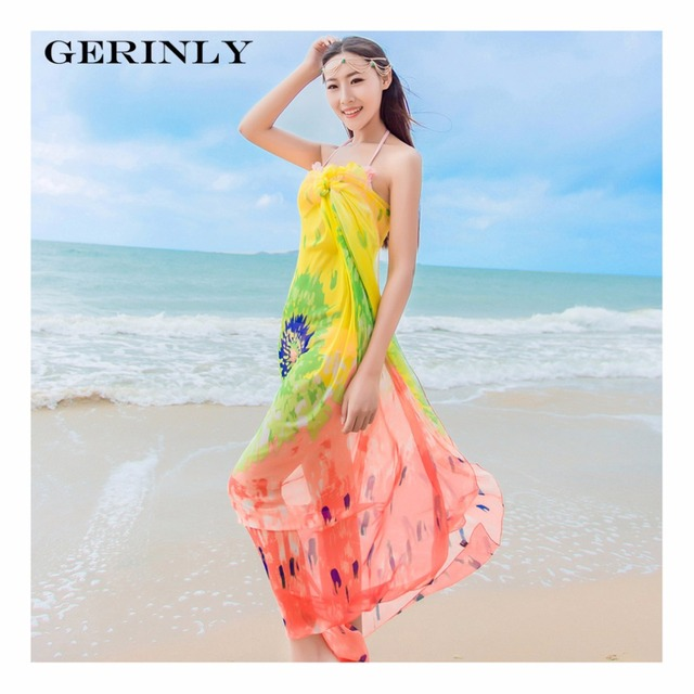 Scarves Pareo Sexy Women's Chiffon Sarongs Summer Bikini Scarf Swimsuit Dress Beach Cover Up Tunic Wraps Ladies Shawls 150*180cm 2
